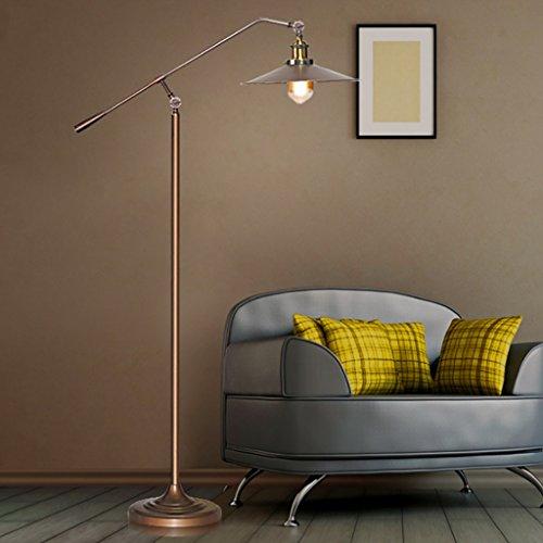 lampadaire LOFT Bronze Vintage Fer Salon étude Industriel Vent nostalgique Bras Long pêche Taille: 27 * 150 cm