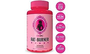 Slim Girlz F-Burner | Anche Senza Esercizio Fisico Per Le Donne | 60 Capsule Vegetali Senza Stimolanti | 10 Principi Attivi | Alte Dosi |100% Naturale & Vegan|Supplemento Dietetico Sicuro|Made In EU