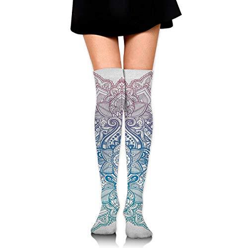 CVDGSAD Bohemian Tattoo Style Compression Socks Fuß Lange Strümpfe Kniestrümpfe für Männer Frauen Unterstützt Sport