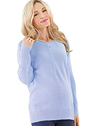 Sweet Mommy Organic Cotton Knit Pullover Sweater with Petit Dolman Sleeve