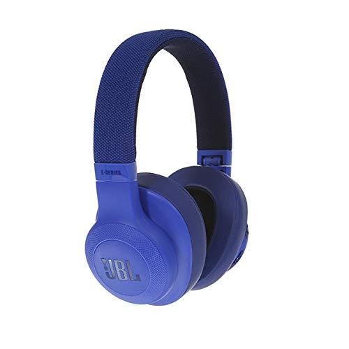 JBL E55BT Over Ear Bluetooth Kopfhörer in Blau – Wireless Headphones mit integriertem Headset – Musikgenuss für bis zu 20 Stunden