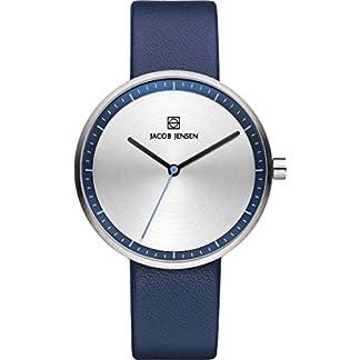 Reloj de pulsera analógico para mujer Jacob Jensen de cuarzo (un tamaño, plata)