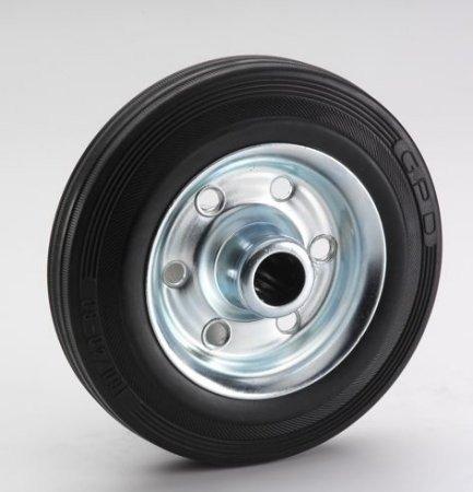 Dörner + Helmer 710222 Vollgummi-Rad 200 x 50 x 20 mm mit Rollenlager Nabenbreite 58 mm