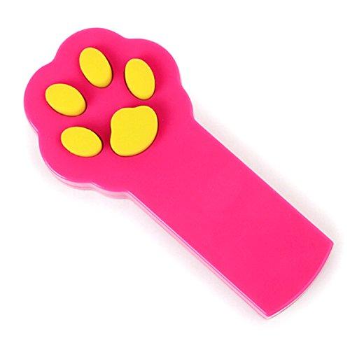 UEETEK Giocattolo del gatto del cucciolo interattivo del puntatore del fascio del LED animale del giocattolo del giocattolo dell'animale domestico (rosa)