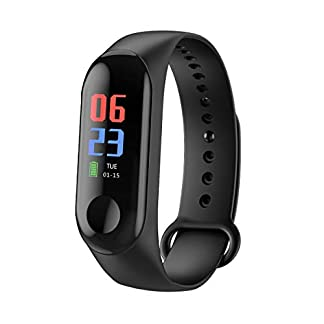 Rastreador de Ejercicios, Smart Bluetooth Sport Waterproof Rastreador de Ejercicios Reloj Inteligente con Ritmo cardíaco Presión Arterial Podómetro Monitor de sueño Calorías Contador de Pasos