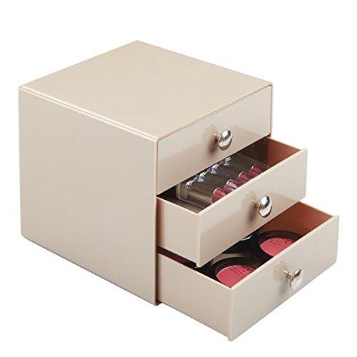 mDesign Cajonera para artículos de bebé - Cómoda con cajones para artículos de cosmética o maquillaje - Ideal para almacenaje de objetos de bebé o artículos pequeños - Color topo