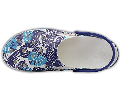 Crocs Unisex CitiLane Graphic Clogs Cerulean Blue