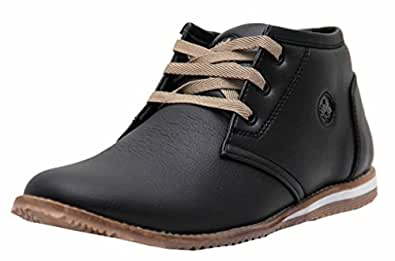 Black Tiger Shoes for Mens Synthetic Leather Shoes & Formal Shoes and Sneakers 098-Black Shoes -6