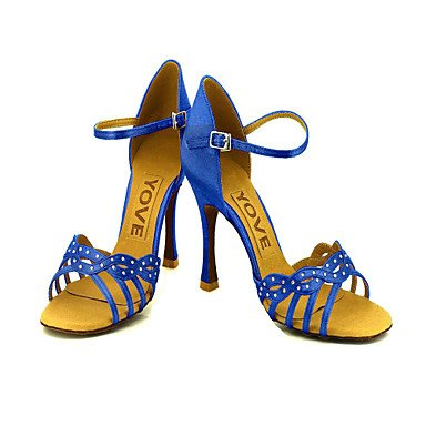 Scarpe da ballo Donna - Latinoamericano / Salsa - Customized Heel - Satin -Nero / Blu / Giallo / Rosa / Viola Red