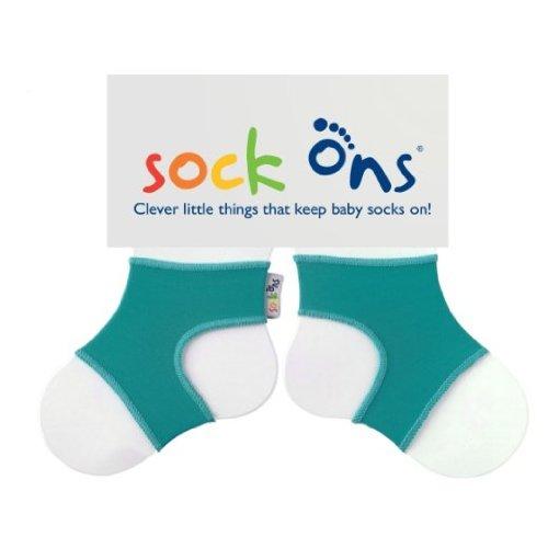 HIPPYCHICK Sock Ons Sockenhalter Babysocken Small 0-6m turquoise