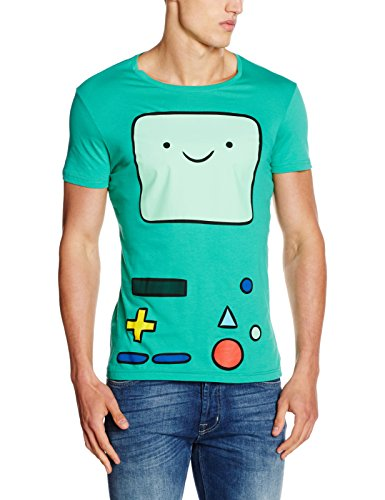 Adventure Time the Beemo, T-Shirt Uomo, Verde, Large
