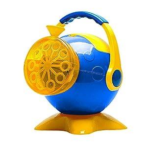 DeeXop Maker - Macchina per Bolle di Sapone Automatica, alimentata a Batteria, per Interni ed Esterni, Giocattolo per Bambini, Colore: Arancione
