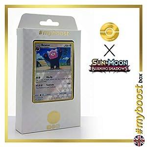 Bewear 111/147 Holo Reverse - #myboost X Sun & Moon 3 Burning Shadows - Box de 10 cartas Pokémon Inglesas