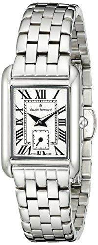 Claude Bernard Women's 25003 3M BR Ladies Fashion Analog Display Swiss Quartz Silver Watch
