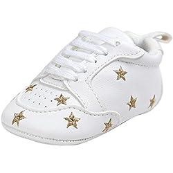 Tefamore Zapatos Bebé Ocasionales Zapatillas de Deporte del Niño del Vendaje de la Forma del Amor del Bordado del Suavemente Calza (11, Oro 2)