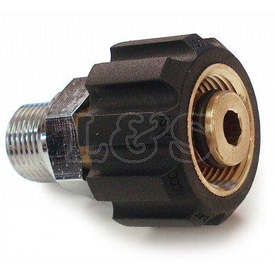 "Karcher Pressure Washer Adaptor 3/8"" BSP Male x M22 Test"