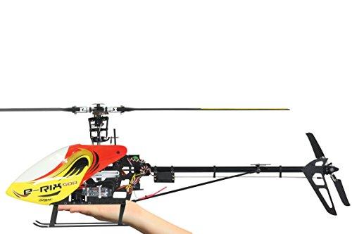 Jamara 031566 - RC E-Rix 500 Carbon RTF Gas rechts Eingeflogen inklusive 2,4 GHz Fernsteuerung