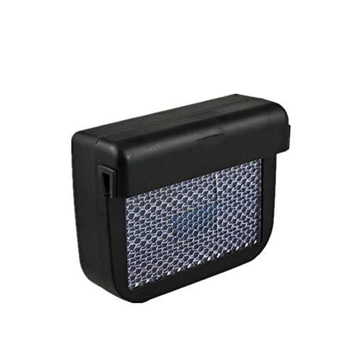 Solarbetriebene Lüftungsventilator Auto Entlüfterelement Abwärme Fan mit Gummistreifen für Automobilluftzirkulation Schwarz -