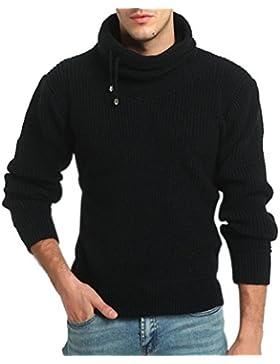 Logobeing Suéter Hombre Cuello Alto Primavera Sudaderas de Hombre Sin Capucha Baratas Deportivas