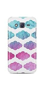 Casenation Colourful Clouds Pattern Samsung Galaxy J5 Glossy Case