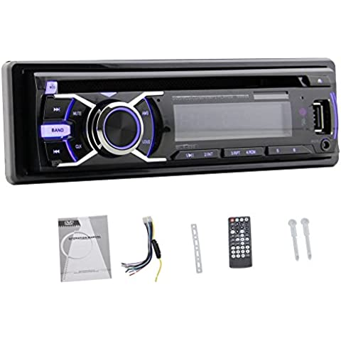 New Car Audio 1-DIN panel desmontable coches reproductor de DVD del coche del dinar individual est¨¦reo de CD / USB / DVD / reproducci¨®n de MP3 con control remoto
