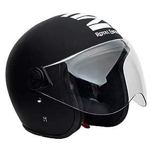 Royal Enfield Matt Black Open Face with Visor Helmet Size (L)58 CM (RRGHEL000038)