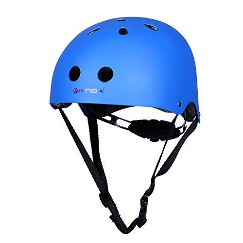 Magideal casco di sicurezza per uomo donne bambini alpinismo arrampicata sport all'aperto protezione da testa - blu, l