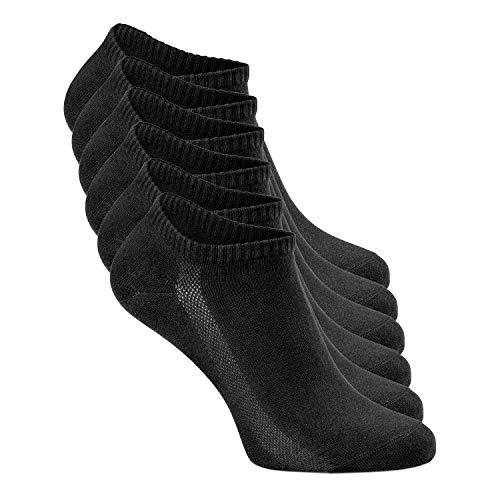 Greylags Sneaker Socken | für Damen und Herren | 6er Pack | Größe 35-38 | Schwarz