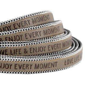 Slogan-Cinturino in pelle, 2meter, 10mm