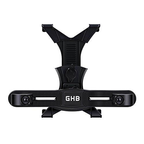 GHB Support Tablette Voiture Fixation Tablette Voiture Support Appui-Tête de Voiture à Angle Réglable 7-10 Pouces-Noir