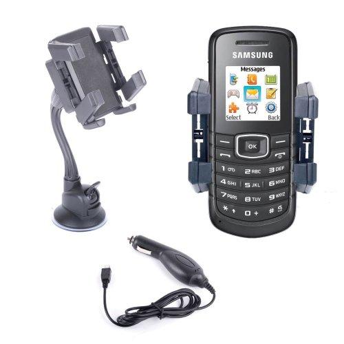 DURAGADGET KFZ Windschutzscheiben-Halterung für Samsung e1080, e2550, e2370, Galaxy S, Epic 4G und Wave 723 -