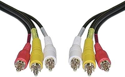 Triple cable 3x RCA Audio Vídeo, 1 m, cable macho a macho TV AV estéreo componente amarillo rojo y blanco, enchufe compuesto RCA a RCA 1Metro, conector suministro Triple RCA a RCA CVBS AR AL