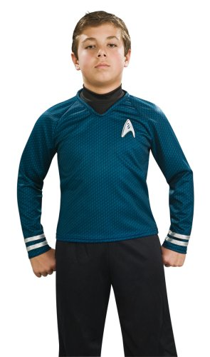 Trek Red Kinder Star Kostüm Shirt - Rubies Kost-me 185219 Star Trek Film Deluxe Kinderkost-m Hemd Blau Medium