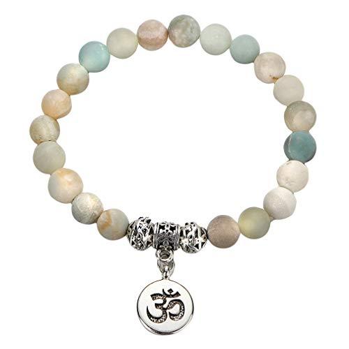 L_shop Yoga Perlen Anhänger Armband Handgefertigte Perlen Naturstein -