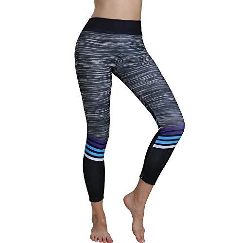 (Stretchy Yoga Leggings, MYMYG Damen Skinny Sporthose Enge Hose Flexible Sporthose Gym Yoga Legging Hose Lang Hose für Tailored Geschenke(Schwarz,EU:38/CN-L))