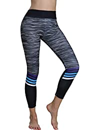 CIELLTE Legging Femme Longue Sports Gym Yoga Pantalons De Yoga Fitness  Gaine Jogging Confortable Amincissant Multicolore dd7d41069bb