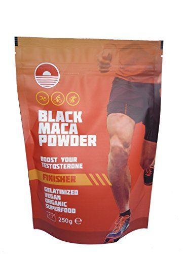 Erhöht Die Testosteron - (Black Maca Powder Gelatiniert 250 GR BIO   Natürlicher Testosteron-Booster   Erhöht die Sportliche Leistung)