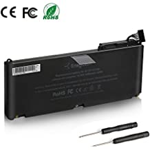 "Batteriol A1342 A1331 Batterie pour Ordinateur Portable Apple MacBook Unibody 13"" Late 2009 Mid 2010 Version, 10.95V 5200mAh Con 2 Destornillador Libre"