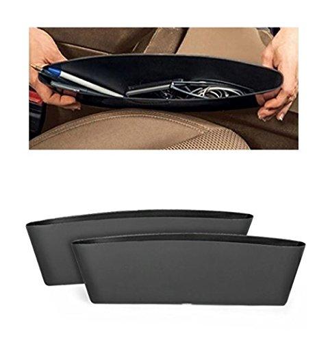 2x Autositztasche Auto Seitenschlitztasche Seiten-Schlitz-Taschen Auto Organizer Sitzablagefach (2x Autositztaschen)