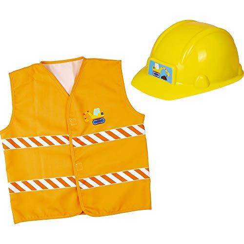 Die Spiegelburg 15134 Verkleidungsset Bauarbeiter (Helm+Weste) Kleine Freunde