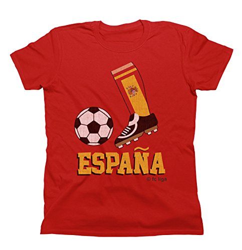 Kids Niños Camiseta unisexo Football Boot T-Shirt ESPANA SPAIN Fan Top