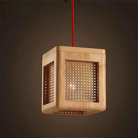 Xh&Yh Lustre nordique Art Lighting Creative Wooden Restaurant Chambre Bar
