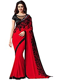 Tiana Creation Georgette Saree (Mintorsi_Red_Red)