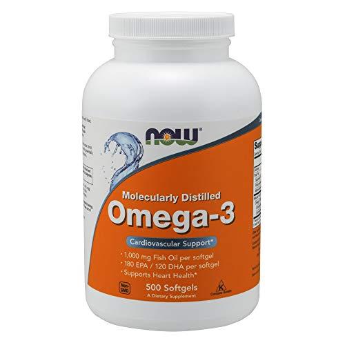 Now Foods Omega-3 180 EPA/120 DHA Fischöl Konzentrat  500 Kapseln -