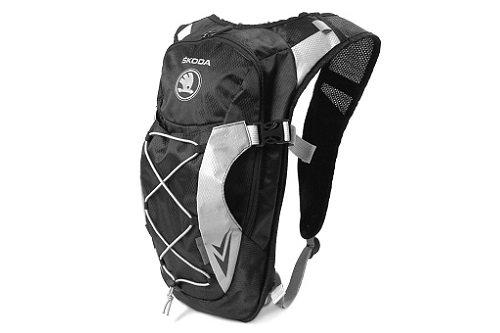 Preisvergleich Produktbild SKODA Fahrradrucksack; schwarz/grau - 000087327B