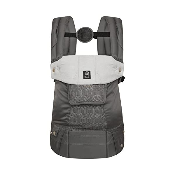 LÍLLÉbaby  Complete Embossed 6-in-1 Baby Carrier, Mystique Grey Lillebaby 6 carrying positions - foetal, infant inward, outward, toddler inward, hip, back Suitable from 3.2- 20kg (birth to approx. 4 years old Luxurious, breathable microfiber 1