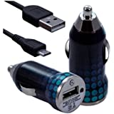 Seluxion - Chargeur voiture allume cigare USB avec câble data pour Wiko Tommy, Fever Special Edition, U Feel, Lenny 3, Pulp, Slide 2, Pulp Fab 4G, Fever 4G, Rainbow Jam 4G, Lenny 2 , Selfy 4G, Rainbow Up 4G, Rainbow Lite 4G, Bloom2 , Sunset 2, Highway Pure 4G, Highway Star 4G, Ridge Fab 4G, Getaway, Birdy 4G, Cink Slim 2, Cink Five, Darkfull, Iggy, Wax, Darkmoon, Cink Peax 2, Darkside motif CV10