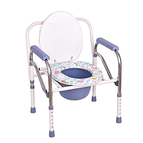 LJHA Chairs Reinforcement/Stainless Steel Potty Chair/WC Pregnant Women Old Man Bath Stool/Adjustable Commode Chairs Stools