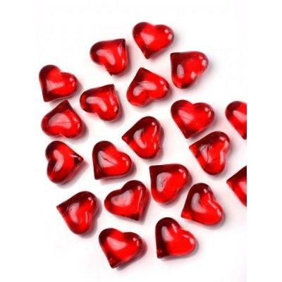 SiDeSo® Dekosteine Herzen rot 30 Stück Acryl Tischdeko Streudeko Hochzeit -