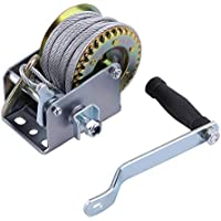 12m Cable Length Multipurpose Manual Hand Winch 600lbs Boat Trailer For Caravans Marine Pull Hauling Lifting Sling Tool